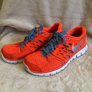 Nike Flex Run Running Shoes - Orange & Blue
